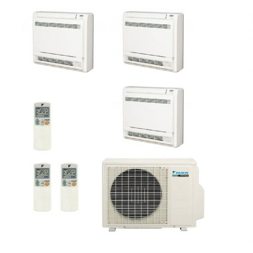 Daikin Air conditioning Multi 3MXS52E Heat Pump Inverter 3 x FVXS25F (2.5Kw/9000Btu) Floor/Console A+++ 240V~50Hz